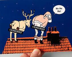 christmas cards funny christmas card cheeky santa santa and