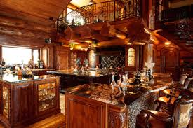 awesome log cabin rustic kitchen dallas by passion rustic cabin