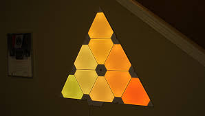 Mesmerizing Lighting Settings Smart Art The Nanoleaf Aurora Triangular Lighting System Is