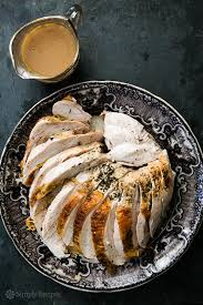roast turkey breast with roasted garlic gravy recipe simplyrecipes