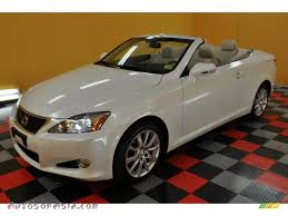 white lexus 2010 2010 lexus is 250c convertible in starfire white pearl 501094
