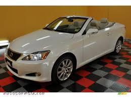 lexus 2010 white 2010 lexus is 250c convertible in starfire white pearl 501094