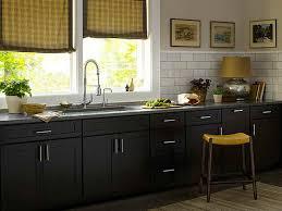 homeofficedecoration black kitchen cabinets in small kitchen