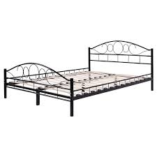 black steel bed frame with wood slats beds u0026 bed frames beds