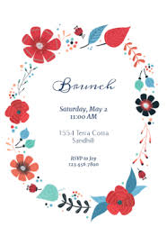 brunch invitation template circling flowers brunch free printable brunch invitation