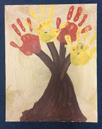 perfect fall craft for kids hand painted family tree