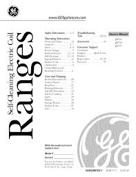 Ge Cooktop Troubleshooting Ge Range Range User Guide Manualsonline Com
