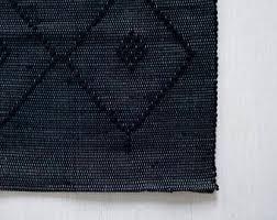 Small Black Rugs Chindi Rug Etsy