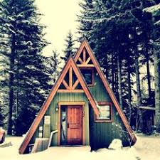 Modified A Frame House W Addition A Frame House Pinterest Cabin House And Tiny Houses