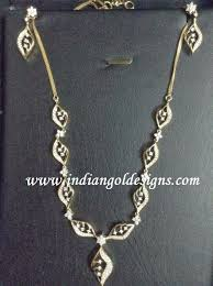 simple diamond sets indiangoldesigns malabar gold simple diamond necklace set