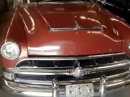 1954 hudson hornet sedan toward the finish line