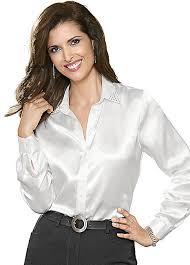 in satin blouses swarovski satin blouse by witt witt international