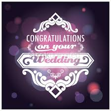 congratulations on wedding card congratulations on your wedding card vector image 1710365