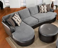Bonded Leather Sofa Durability Elegant Chic Gray Velvet And Black Leather Sectional Sofa With F