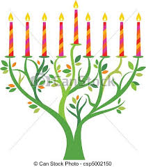 hanukkah menorah tree with candles vector clipart search