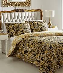 de cama milan duvet cover set black gold yellow double amazon
