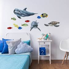 tropical fish and sea creatures sticker collection wall mural decals tropical fish and sea creatures collection economy size wall decals stickers