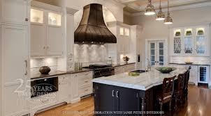 kitchens iron range hood white shaker kitchen cabinets black