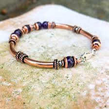 simple jewelry bracelet images Amethyst copper bracelet simple graces jewelry jpg