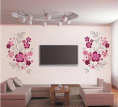 pink flower blossom wall decal sticker tv background flower tree pink flower blossom wall decal sticker tv background flower tree wall art mural poster removable living room bedroom home decoration sticker sticker wall