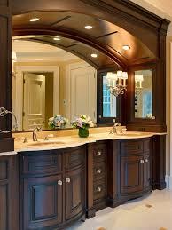 Recessed Bathroom Vanity by Arches In Bathroom Bathroom Traditional With Wood Bathroom Vanity