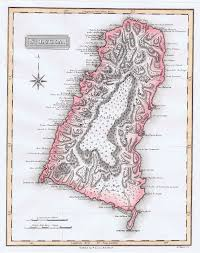 Saint Lucia Map St Lucia Maps Prints Photographs Ephemera Pennymead Com