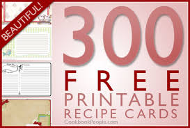 300 free printable recipe cards
