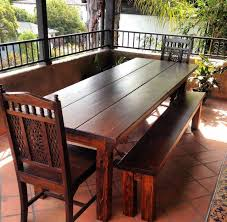 Ft Outdoor Farmhouse Dining Table Rustic Dining Tables Los - Dining room tables los angeles