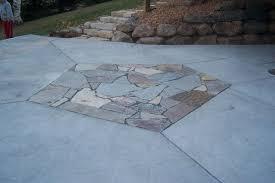 Flagstone Patio On Concrete by Decorative Concrete Colored Stamped Concrete Textured Concrete