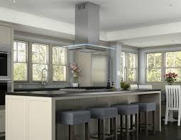 kitchen island kitchen grey stainless steel island vent hood