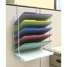 Safco Desk Organizers Vertical Desk Organizer 6 Tray Vertical Desktop Wall Mount