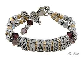 beaded name bracelets bracelets and bracelet styles
