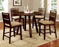 round counter height table set buy furniture of america cm3915rpt set dwayne ii round counter
