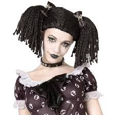 doll halloween costumes buy gothic rag doll wig