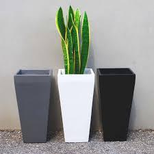 planters astounding tall black planter tall black planter large