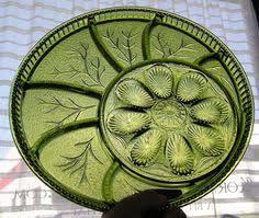 vintage deviled egg platter vintage avocado green deviled egg tray and shaker lego japan