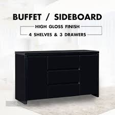 Black Gloss Buffet Sideboard 15 Best Of High Gloss Black Sideboards