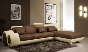 Contemporary Leather Sectional Sofa by Divani Casa 4085 Modern Bonded Leather Sectional Sofa In Brown
