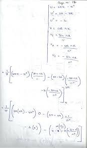 mathematics 3 fourier series problems under the interval 0