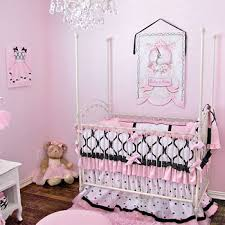 Girls Pink And Black Bedding by Pink Black White Princess Crib Bedding For Your Baby U0027s