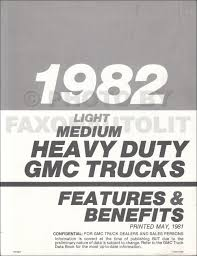 1982 gmc heavy duty repair shop manual supp original astro