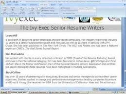 Personal Branding Resume Resume U003d Personal Brand How To Get It Right Ivy Exec Webinar