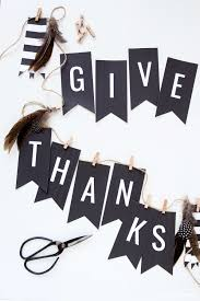 free thanksgiving banner give thanks in black white