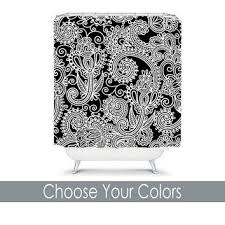 Black And White Paisley Shower Curtain - best colorful floral shower curtains products on wanelo