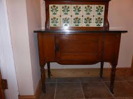Victorian Powder Room Antique Victorian Wash Stand With Tiled Back Marble Top Ebay