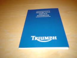 triumph service book america speedmaster st thunderbird owners