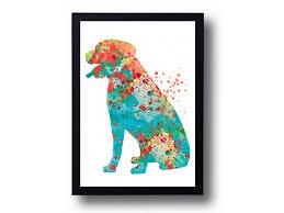watercolor painting print rottweiler art rottweiler poster dog