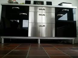 ikea edelstahl küche ikea hochglanz edelstahl küche bar unterschränke in schleswig