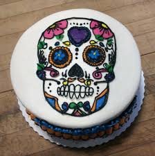 sugar skull birthday cake u2014 trefzger u0027s bakery