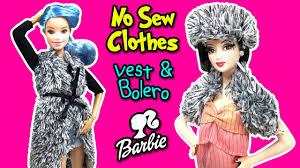how to make no sew vest for barbie dolls diy easy doll crafts